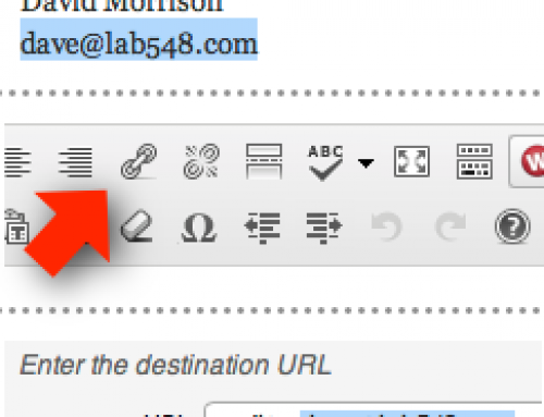 Linking Email Addresses in WordPress